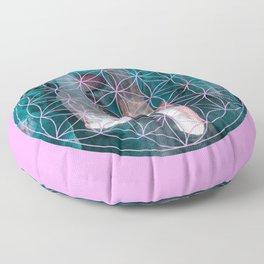 Crystal flower of life | Secret Geometry Floor Pillow