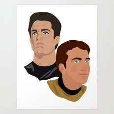 The Two Captains Art Print