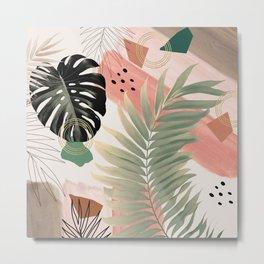 Palm Leaf Summer Glam #1 #tropical #decor #art #society6 Metal Print