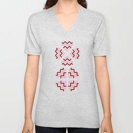 Chevron Hearts Design Unisex V-Neck
