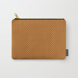 Ocher Orange Scales Pattern Design Carry-All Pouch
