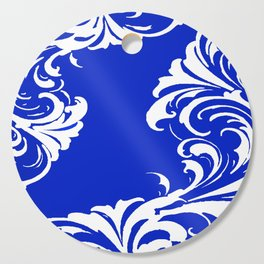 Damask Blue and White Cutting Board