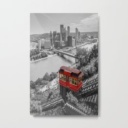Pittsburgh Incline Skyline Print Metal Print
