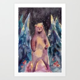 Night Watchbear Art Print