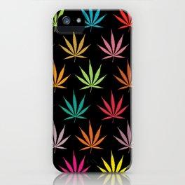 Cannabis Leaf Multi-coloured Pattern iPhone Case