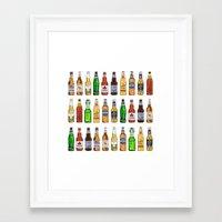 beer Framed Art Prints featuring BEER by BearandBugle