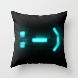"""CRT :-)"" Throw Pillow"
