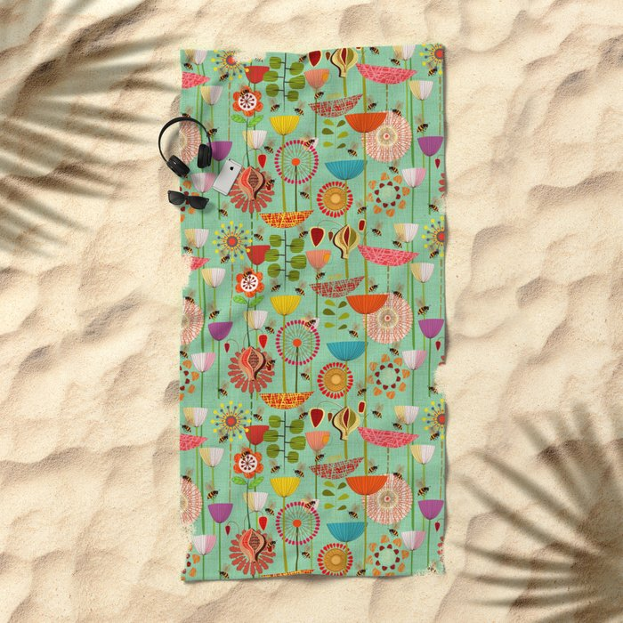 WHERE THE BEES FLY Beach Towel