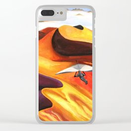 Hang-Glider Oil Painting Clear iPhone Case