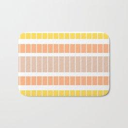 Warm rectangles Bath Mat