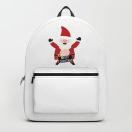 Merry Christmas Drunk Naughty Santa Claus Funny Backpack