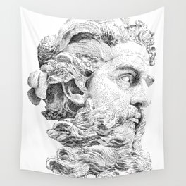Neptune God of the Sea Wall Tapestry