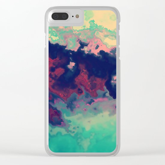 Watercolor marble Clear iPhone Case