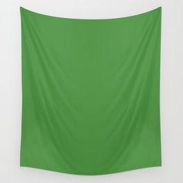 May Green - solid color Wall Tapestry