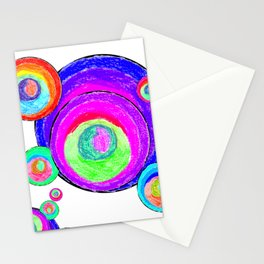 Colorful Secret Geometry | painting by Elisavet #society6 Stationery Cards