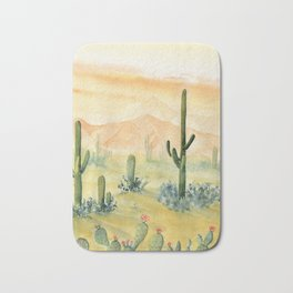 Desert Sunset Landscape Bath Mat