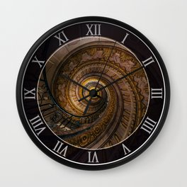 Ornamented spiral stairs Wall Clock