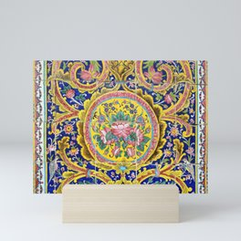 Floral Persian Tile Mini Art Print