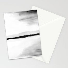 Black and White Watercolor Landscape Stationery Cards