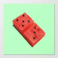 WATERMELON DOMINO Canvas Print