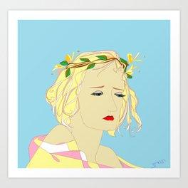 A Honeysuckle Beauty Bride Art Print
