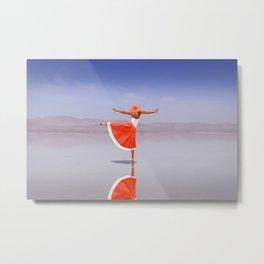 Ballerina Dancing On The Beach Metal Print