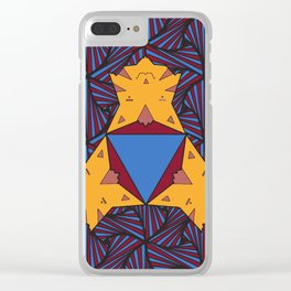 Cat Triangle Mandala Clear iPhone Case