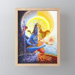 Shiva and Shakti Framed Mini Art Print