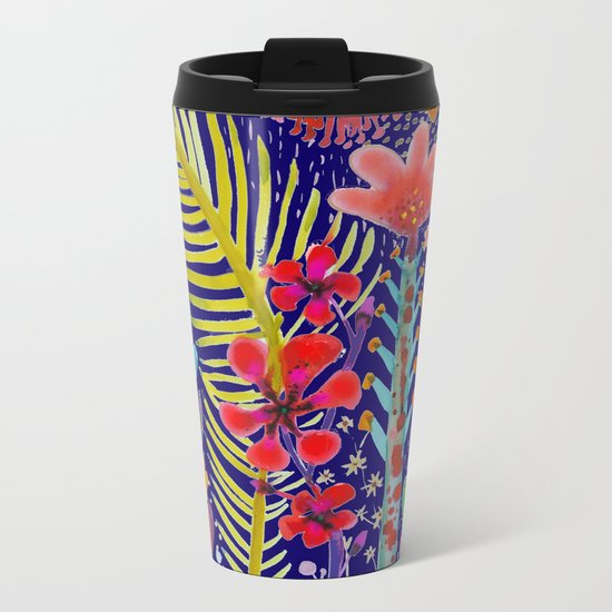 in the migthy jungle Metal Travel Mug
