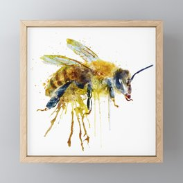 Watercolor Bee Framed Mini Art Print