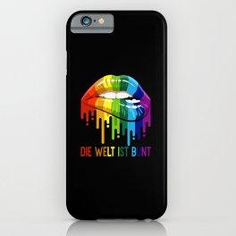 LGBT Rainbow Kiss Mouth Shirt Pride Gay CSD iPhone Case
