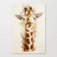 giraffe Canvas Prints featuring giraffe by beart24