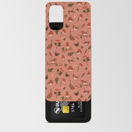 Robin Pink Pattern Android Card Case