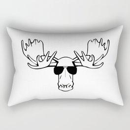 Hipster Moose Rectangular Pillow