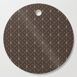 Louis Pitbull Luxury Dog Bling Pattern Cutting Board