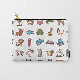 CUTE ANIMAL KINGDOM PATTERN Carry-All Pouch