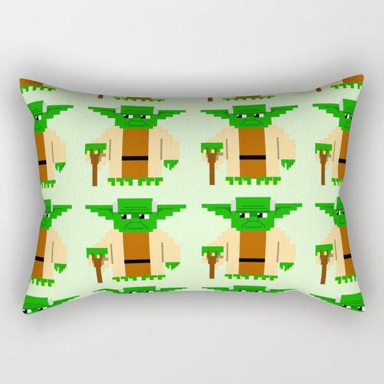 Pixel Yoda Rectangular Pillow