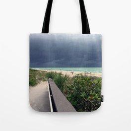 Stormy Sky, Aqua Sea Tote Bag