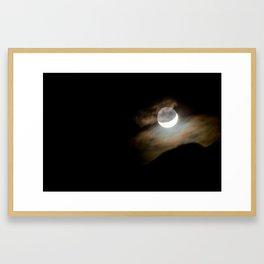 Jumbo Rocks Moonset Framed Art Print