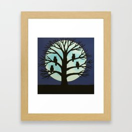 Spooky Owl tree Framed Art Print