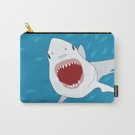 Shark Attack Underwater With Fish Swimming In The Background Carry-All Pouch