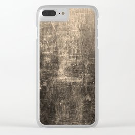 Gold Crinkled Paper Clear iPhone Case