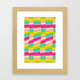 MULTI COLOURED STRIPE Framed Art Print