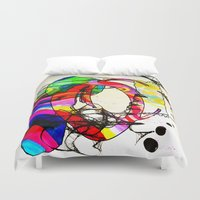 coco Duvet Covers featuring Coco Loco by Lynsey Ledray
