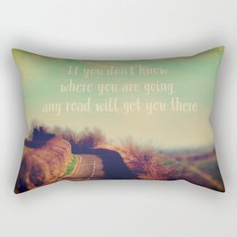 The Road Ahead Rectangular Pillow