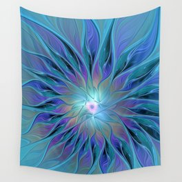 Decorative Flower Fractal Wall Tapestry