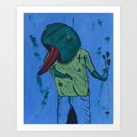 Froggy Suicide Art Print