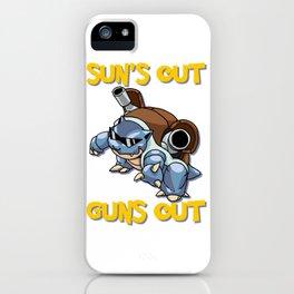 GUNS OUT BLASTOISE iPhone Case