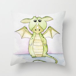Whimsical Dragon Throw Pillow