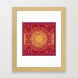 Love Will Find A Way -- Kaleidescope Mandala in the colors of Love Framed Art Print